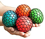 Uteruik Anti-Stress-Mesh-Kugeln, Squishy-Ball, Squeeze Traubenball, Druck-Ball, Farben können variieren, 2 Stück