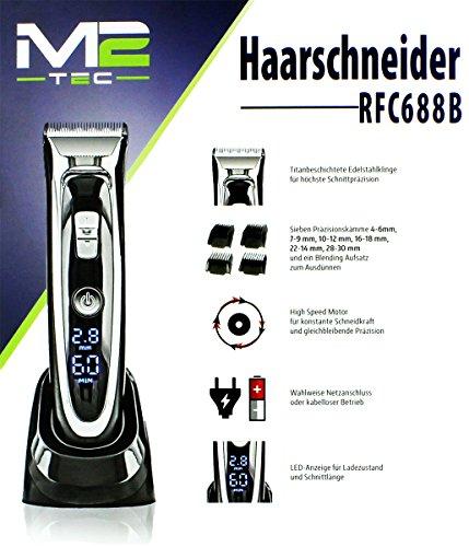 GYD M2 TEC Salon Haarschneidemaschine Trimmer Haarschneider Titanbeschichtung Mit LED Anzeige