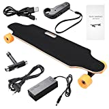 Acecoree Elektro Skateboard Longboard Elektrisches Skateboard Ahorn-Skateboard,250W E Skateboard Elektrisches City Elektrolongboard mit Fernsteuerpult,bis 20-25 km/h (Orange 87)