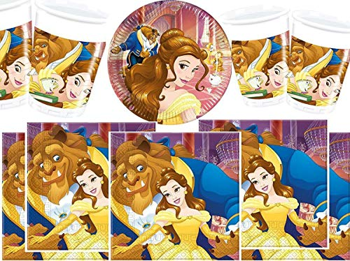 Disney bpwfa-4730Beauty und The Beast Geschirr (Das Und Servietten Schöne Die Biest)
