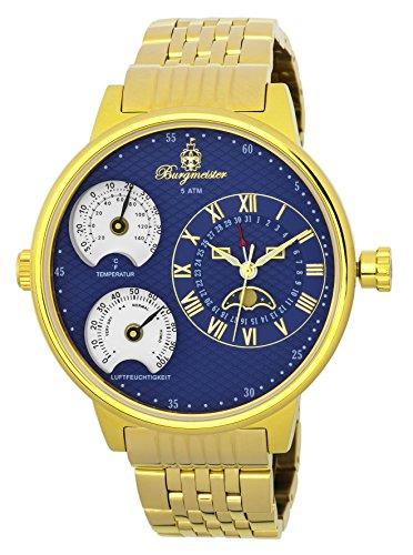 Burgmeister BM309-239 - Reloj de pulsera hombre, color Oro