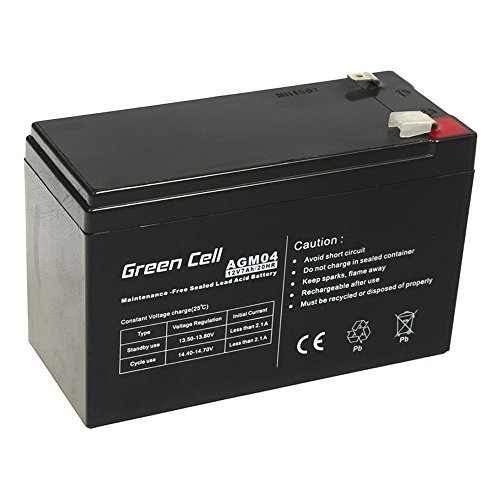 Green Cell® Akku Batterie AGM (12V 7Ah VRLA Faston F2)