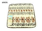 Wunderbar flauschiges Wende - Stuhlkissen  RELAX  36 cm x 36 cm - wärmend aus wunderbar weichem Lammflor mit Wolle - Anteil - geeignet für viele Stühle und allgemein als wärmende Sitzunterlage in Garten, auf der Terrasse oder im ganzen Haus , BRAUN / BEIGE / CREME (auf der einen Seite) und NATUR - WEISS (andere Seite) - ein Sitzkissen / Kissen - VERSANDKOSTENFREI aus dem KAMACA-SHOP - eine pfiffige Geschenk - Idee