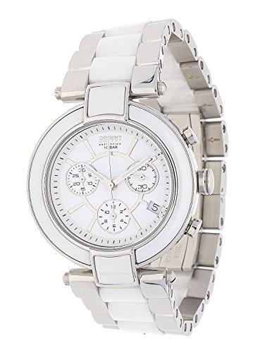 Esprit  PHYSIS - Reloj de cuarzo para mujer, con correa de cerámica, color plateado