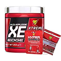 BSN N.O.-XPLODE XE Pre Workout Performance Supplement with Beta Alanine, Vitamin B12 and Caffeine by BSN -  Cherry Lime, 25 Servings, 263g
