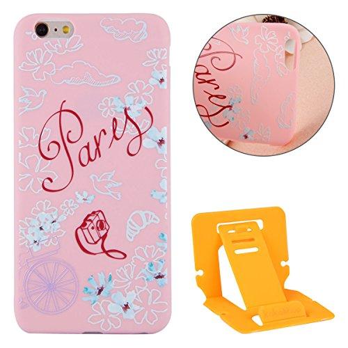 Apple iphone 6s Plus Hülle,iphone 6 Plus TPU Case Cover,Ekakashop Ultra Dünn Rose Soft Glänzend Schale Silikon Gel Schutzhülle Handyhülle mit Muster für Apple iPhone 6 plus / 6s plus, Wunderschön Eine Frühsommer