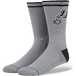 Postura de la NBA San Antonio Spurs Logo Arena calcetines gris gris M (38-42)