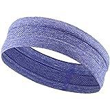 Outgeek Yoga Headband Workout Headband Anti Slip Sweat Absorbent Elastic Running Headband Hair Band Sweatband for Sports Fitness
