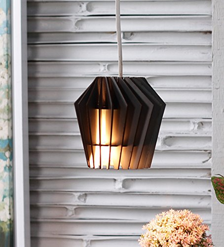 The Brighter Side Whirlpool black wood pendant - small Diamond Pendants lights With Good Wooden Work