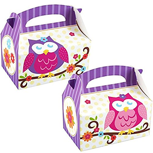 Owl Blossom Party Supplies - Empty Favor Boxes (4) by BirthdayExpress (Supplies Party Owl)