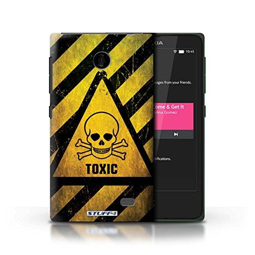 Kobalt® Imprimé Etui / Coque pour Nokia X / Toxique/Crâne conception / Série Signes de Danger Toxique/Crâne
