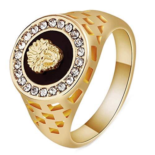 J-Z Herrenschmuck Gold Europäische und Amerikanische Medusa Lion Head Rings, Gold, 8