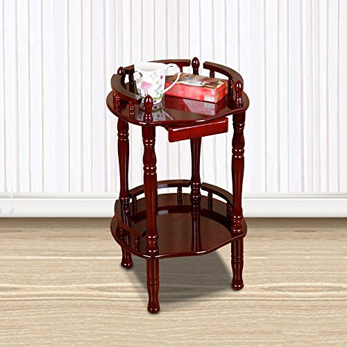 Porte-magazines et porte-journaux Téléphone en bois massif en style chinois Plusieurs cadres Magazine Etagères Bookstand Chêne Salon Petite table basse Accueil Simple ( Couleur : A )