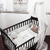 Belily World Baby Bettset, 5 Teilig, Bettwäsche Set, Teddy Teds Zimmer