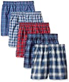 Fruit of the Loom Big Boys' Tartan Boxer , Assorted, Small (Pack of 5)