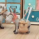 JWBT Kreative retro double Stift Schreibwaren Geschenk auf dem Esel und bestie Harz Versand desktop Dekoration, Esel pen Barrel bag