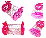 CONNECTWIDE®Apple Shaped Multipurpose Storage Rack Home and Kitchen Heavy Duty, #1 Best Rate Organizer -Craft Acrylic Holder Rack Display Organizer Rack, Organizer for Kitchen Pantry, Cabinet, Countertops, capacity: 12KG, Color: Pink