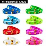 Pulsera de silicona, silicona pulseras pulseras para niños parte bolsa de regalo, novedad Emoji Emoji parte suministros regalo para los niños 32unidades en 2tamaño