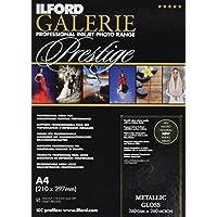 Ilford Galerie Prestige Metallic Gloss - Pack 25 hojas de papel A4 (color blanco)