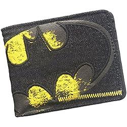Cartera Billetera de DC Comics Batman Negro Amarillo