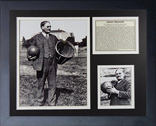 Legenden Sterben Nie James Naismith Kansas Jayhawks Collage Bilderrahmen, 27,9x 35,6cm