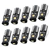 SEALIGHT T10 W5W Coche LED Bombillas 12V 6000K 194 168 2825 Para Coches Luces De La Matrícula Posición Laterales Iluminación Interior Luces Laterales (Paquete de 10)