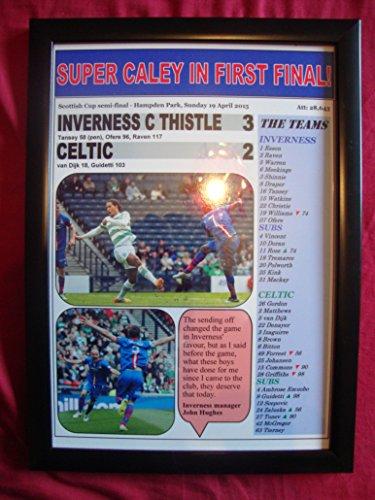 Inverness Caledonian Thistle 3Keltisches 2-2015Scottish Cup Halbfinale-Kunstdruck, gerahmt -