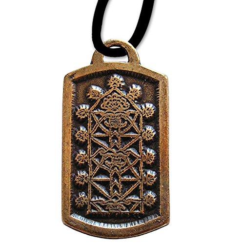 Baum der Weltweisheit Amulett Keltischer Anhänger Schmuck mit Lederhalsband Schmucksäckchen und Karte - Gesundheit – 20 Weltenbaum Lebensbaum