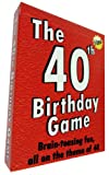 The 40th Birthday Game - amusing little gift or present idea for anyone turning forty. Fun as a 40th birthday party icebreaker.