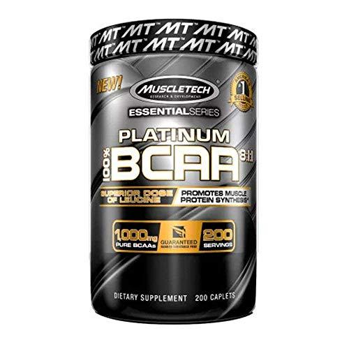 Muscletech Essential Series Platinum BCAA 8:1:1 Standard - 200 Cápsulas