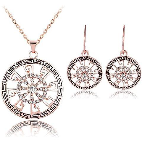 Skyllc® Traje pendientes del collar de clavícula manera hecha a mano del diamante del flash