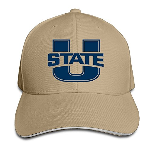 Huseki Hotgirl4 Adult Utah State University Aggies U Adjustable Baseball Cap Ash Natural Utah State University
