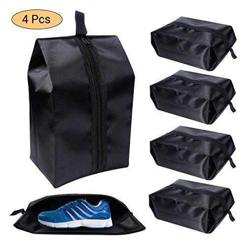 4pcs sacchetti portascarpe da viaggio borse di scarpe organizzatore con della chiusura lampo per gli uomini