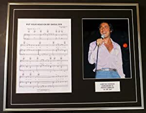 PAUL ANKA /PUT YOUR HEAD ON MY SHOULDER/ CADRES PARTITION ET PHOTO, ÉDITION LIMITÉE