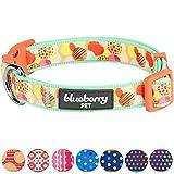 Blueberry Pet Wohltuendes Wunderland Ideale Tupfen Hundehalsband, Hals 37cm-50cm, M, Verstellbare Halsbänder für Hunde