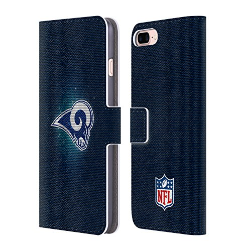 Ufficiale NFL Righe 2017/18 Los Angeles Rams Cover a portafoglio in pelle per Apple iPhone 4 / 4S LED