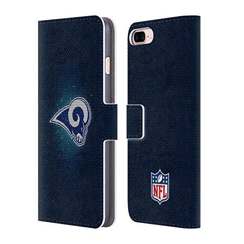 Ufficiale NFL Righe 2017/18 Los Angeles Rams Cover a portafoglio in pelle per Apple iPhone 4 / 4S LED