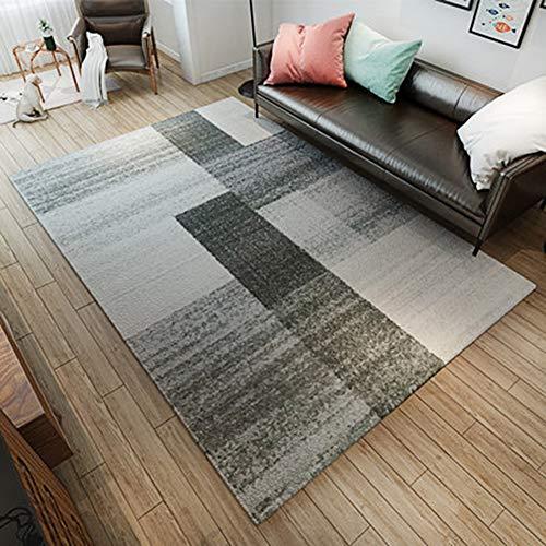 Ybybyb tappeto poliestere morbido peluche antiscivolo tavolino salotto ufficio camera da letto art,a4,180 * 280cm