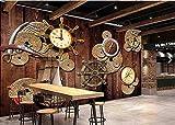 ZNNBH Selbstklebende 3D-Wandbilder (B) 350X (H) 256Cm Nostalgisches Holzbrett Piratenschiff 3D-Tapete Schlafzimmerwand Wohnzimmer Geschäft Bar Cafe Wandbild Tapete Restaurant Kinderzimmer Wandbilder