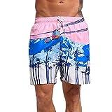 VRTUR Herren Männer Badehose in vielen Farben | Badeshort | Bermuda Shorts | Beachshort | Slim Fit | Schwimmhose | Badehosen | schnelltrocknend | Jungen (XX-Large(Taille: 88-98 cm),G-Rosa)