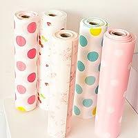 Quanjucheer - Revestimiento para armario, 300 cm, diseño de lunares 300cm x 30cm Pink Flower