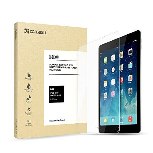 Coolreall iPad mini 1/2/3 Vidrio Templado Protector de Pantalla para A