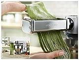 Kenwood KM010 - Accessorio Pasta Fettuccine / Tagliatelle (6,5 mm di larghezza) + Adattatore Omaggio Originale per Kitchen Machine e Coocking Chef
