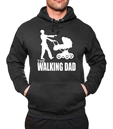 Walking DAD Kapuzen-Sweatshirt Hoodie Kapu Papa Dad neu Herrentag Vatertag Baby (Hoodie Pullover Vatertag)