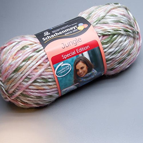 Schachenmayr 150 Gramm Jungle Special Edition Farbe 184 Jamaika Color Wolle 1 Knäul = 1 Loopschal/ Loop oder 1 Mütze