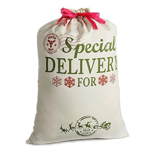 Bolsa Navidad Santa Sacos regalo Arpillera personalizada