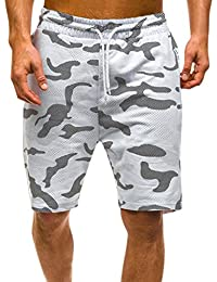 RETUROM-Pantalones Cortos de Verano de Camuflaje de Carga Casual para Hombre d2b27aeb2c9d