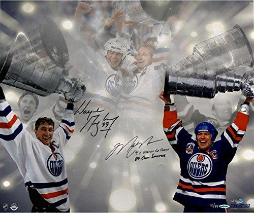 NHL Edmonton Oilers SIGNIERT Stanley Cup 16X 24Foto mit