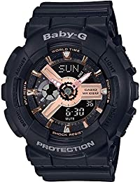 CASIO Womens Analogue-Digital Quartz Watch with Resin Strap BA-110RG-1AER