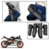 #9: AllExtreme motorcycle accessories kneepad elbow flanchard ktm protection motocross racing protector-(BLack, Set of 4)